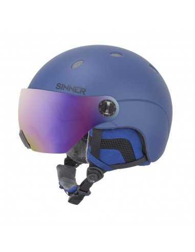 SINNER TITAN VISOR METALLIC DARK BLUE SIHE-139-50A
