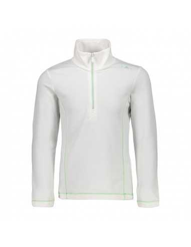 CAMPAGNOLO GIRL FLEECE SWEAT BIANCO 38E1615 A001