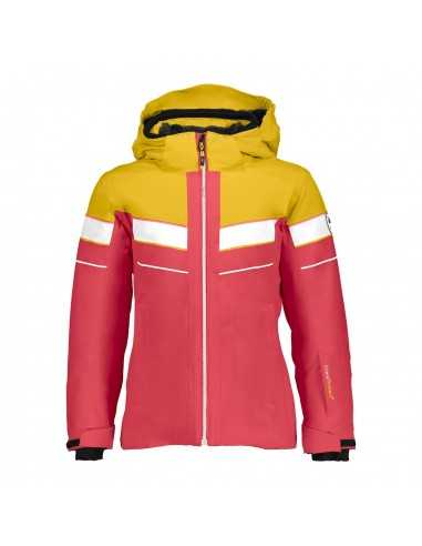 CAMPAGNOLO GIRL JACKET SNAPS HOOD STRETCH CORALLO 38W0355 C799