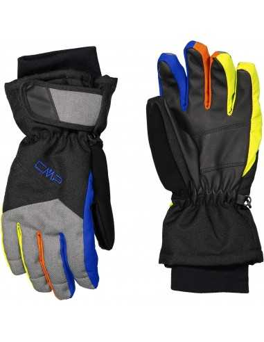 CAMPAGNOLO KIDS SKI GLOVES NERO ROYAL 6524827J 34BN