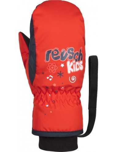 REUSCH KIDS MITTEN FIRE RED DRESS BLUE 4885405 325