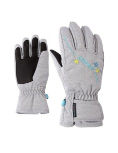 ZIENER LULA AS GLOVE GIRLS JUNIOR LIGHT MELANGE 801942 823