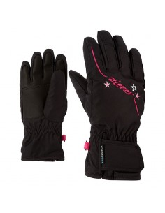ZIENER LULA AS GLOVE GIRLS JUNIOR BLACK 801942 12