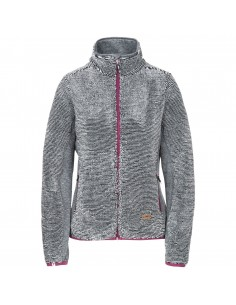 TRESPASS MUIRHEAD FLEECE JACKET GREY STRIPE FAFLFLN20008 GREY