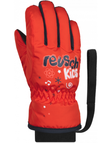 REUSCH KIDS FIRE RED/DRESS BLUE