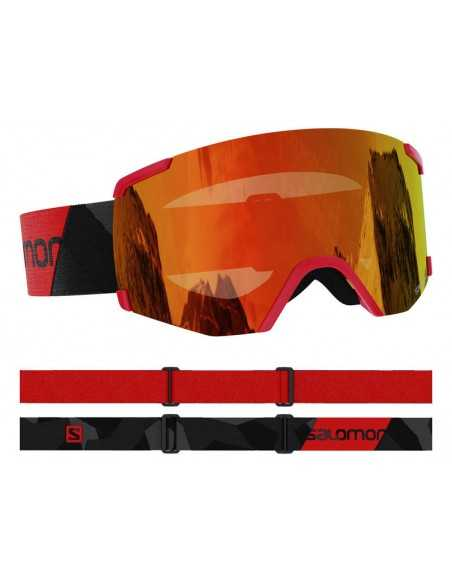 SALOMON S/VIEW BLACK RED UNIVERSAL MID RED L41152700