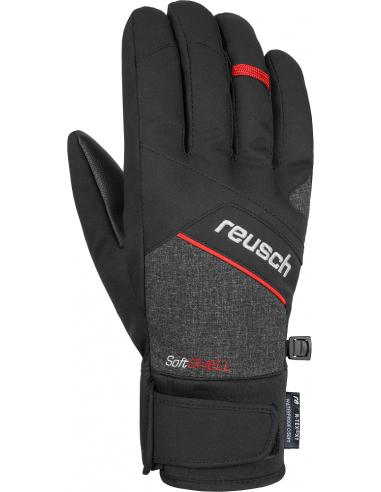 REUSCH LUKE R-TEX XT BLACK MELANGE FIRE RED 4801251 7680
