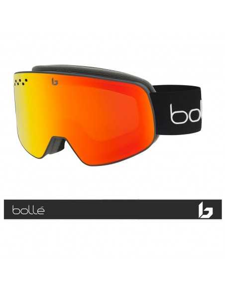 BOLLE NEVADA SMALL BLACK CORP MATTE PHOTOCHROMIC FIRE RED 22035