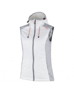 CAMPAGNOLO WOMAN FLEECE VEST GESSO 3H30266 A143