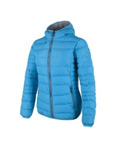CAMPAGNOLO WOMAN JACKET FIX HOOD SEA BLUE