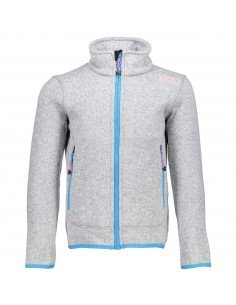 CAMPAGNOLO GIRL FLEECE JACKET SILVER