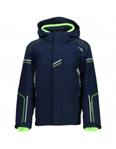 CAMPAGNOLO BOY STRETCH JACKET SNAPS HOOD NAVY 3W06274 M870