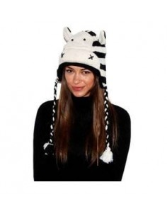 PINKYAK ANIMAL HAT ZEBRA ZEBRA
